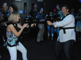 breakout session or team building event playing laser tag at web extreme entertainment in cincinnati ohio