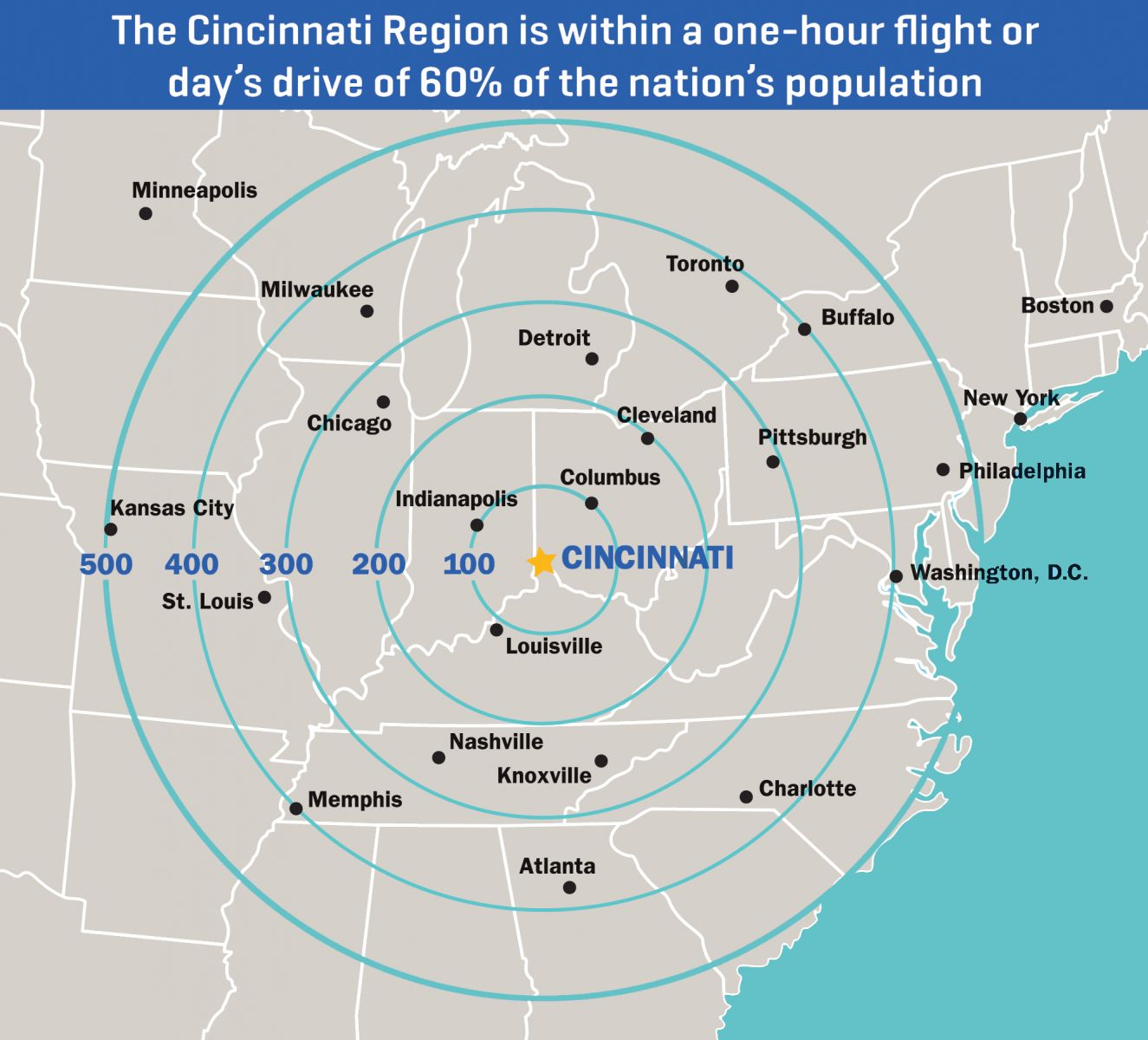 Cincinnati Radial Map