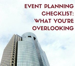 event planning checklist Cincinnati