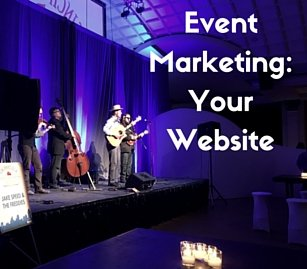 Event Marketing: Your Website