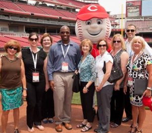 Cincinnati USA CVB staff gives tour of unique meeting spaces at the Reds' Great American Ball Park