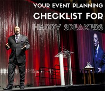 Event Planning Checklist Speakers
